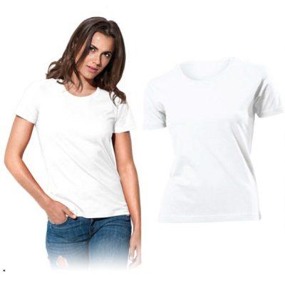 Bílé kvalitní dámské triko s vlastním potiskem