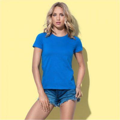 Dámské triko vysoké gramáže modré