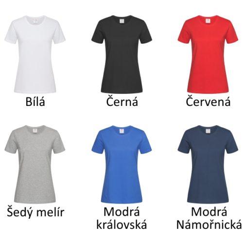 Všechny barvy dámských triček Stedman