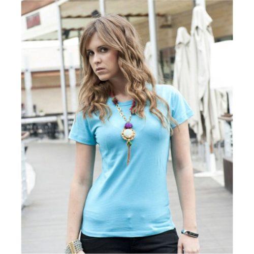 Modré dámské triko s vlastním potiskem