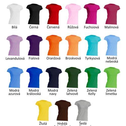 Všechny barvy dámských triček
