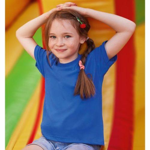 Dětské triko v barvě modrá královská
