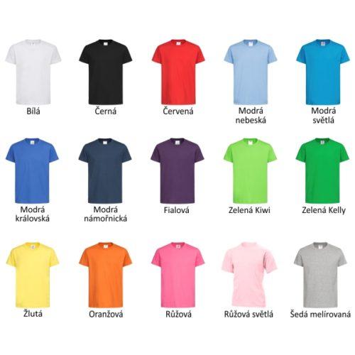 Dětská trika všechny barvy