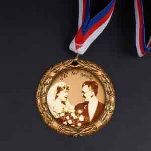 Medaile s vaším obrázkem a textem