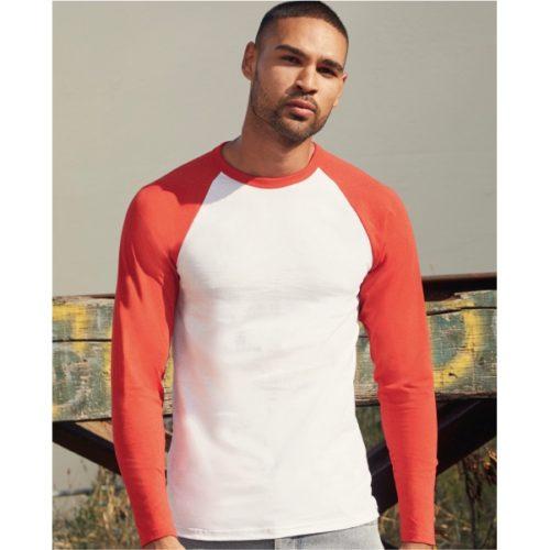 Tričko s dlouhým barevným rukávem