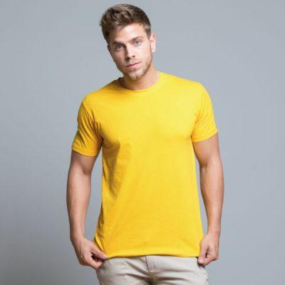 Potisk na žluté triko