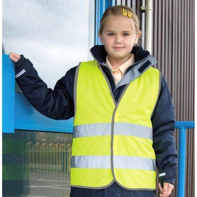 Žlutá reflexní vesta pro děti