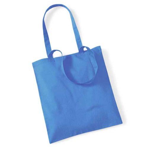 Modrá látková taška vhodná pro potisk