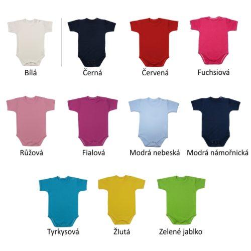Barvy dětských body pro potisk