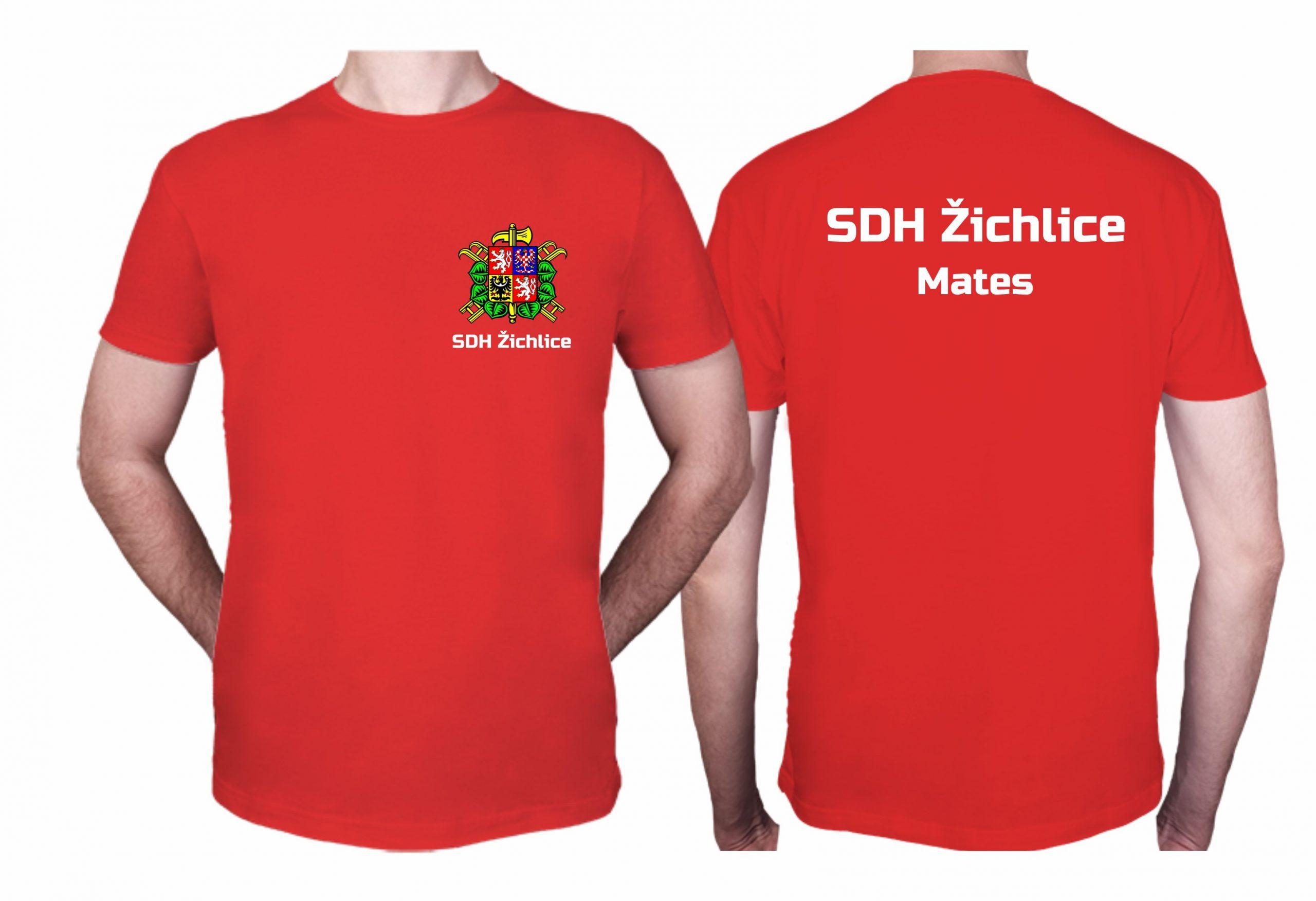 Potisk triček pro dobrovolné hasiče